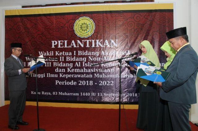 Pelantikan Wakil Ketua STIK Muhammadiyah Pontianak periode 2018-2022