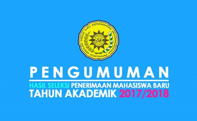 Pengumuman Tes Kesehatan Hasil Seleksi Penerimaan Mahasiswa Baru Tahun Akademik 2017/2018
