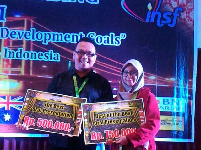 Gusti Jhoni & Nesya mendapatkan Best of the best Oral presentation in INSF 8 Palembang