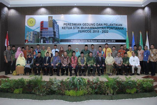 STIK Muhammadiyah Pontianak Resmikan Gedung Baru Sekaligus Lantik Ketua