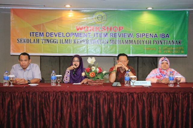 Workshop Item Review, Item Development & SIPENA IBA    STIK Muhammadiyah Pontianak